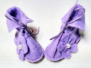 Шьем нежные ботинки для Тильды из фетра. Ярмарка Мастеров - ручная работа, handmade.