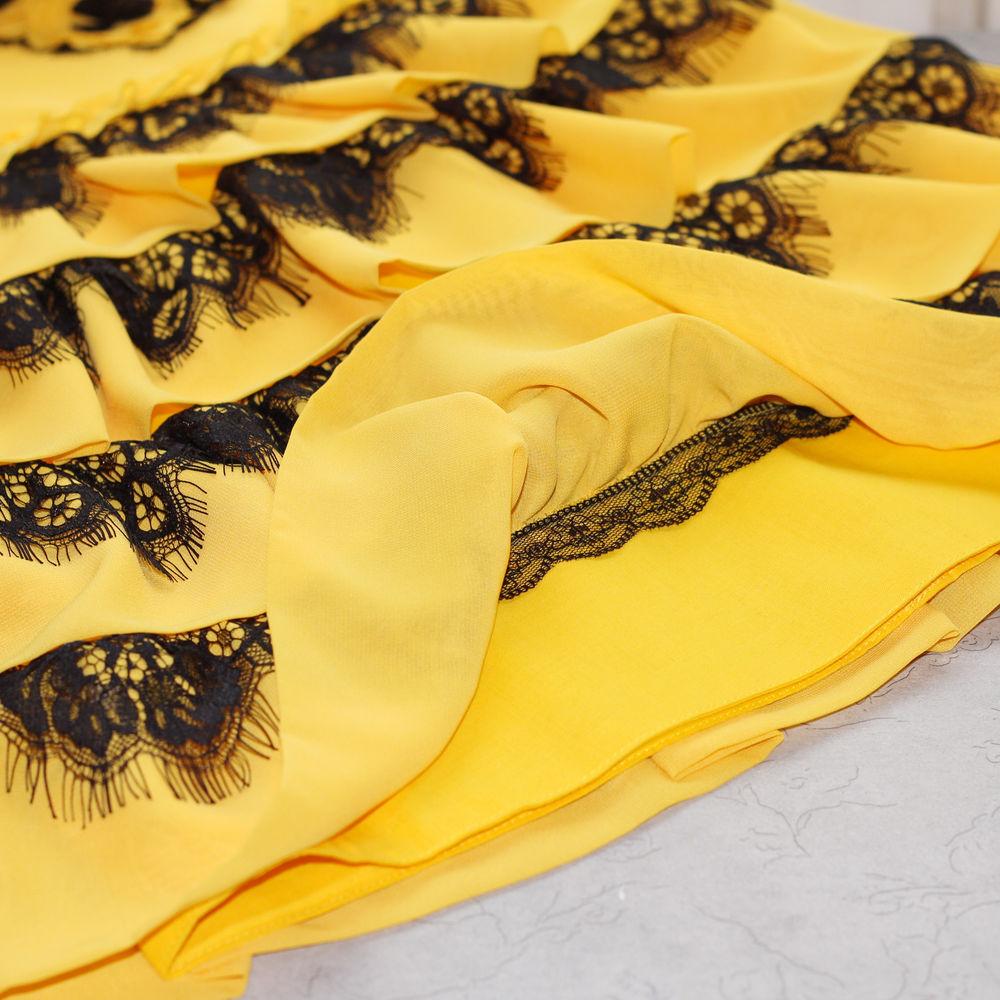 детское платье, платье для особых случаев, желтое платье, цветы ручнаая работа
