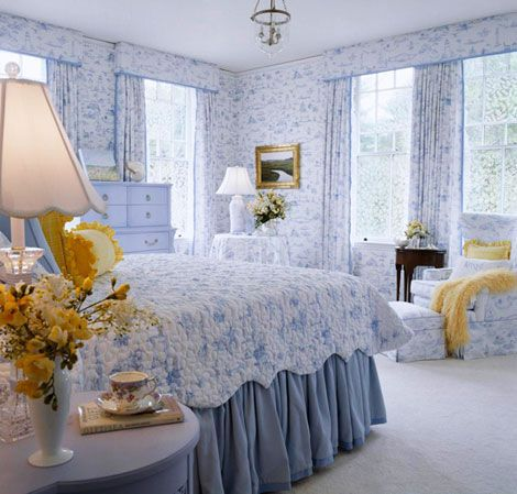 Toile Bedroom Decorating Ideas | Bedroom Decorating Ideas: Totally Toile - Traditional Home®
