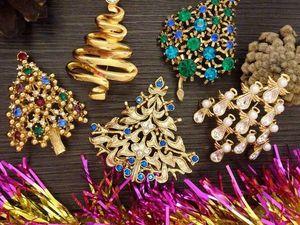 История рождественских брошек. Ярмарка Мастеров - ручная работа, handmade.