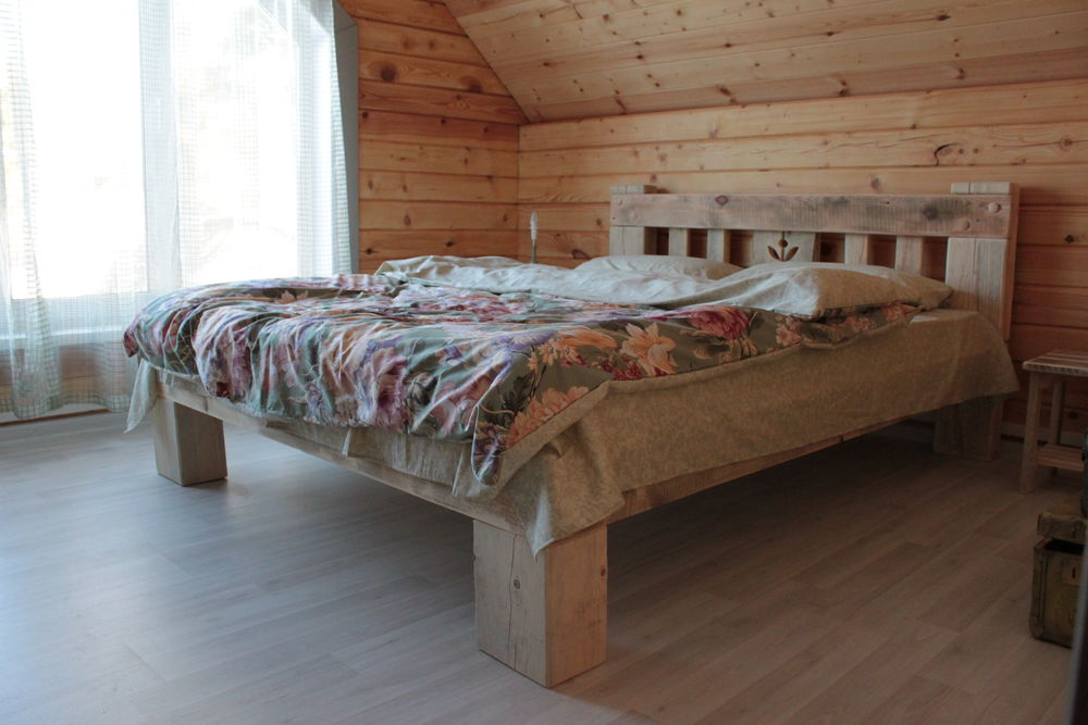 кровати, столяр, в стиле рустик