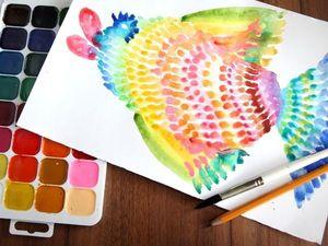 Как легко и просто нарисовать радужную рыбку. Ярмарка Мастеров - ручная работа, handmade.