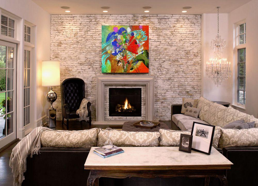 картина маслом, цветы, диптих, заказать картину, панно на стену