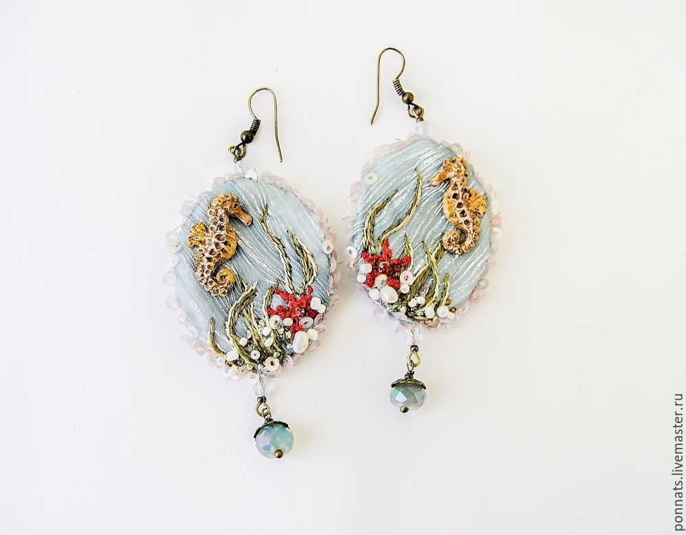 Modeling Textile Earrings with Embroidery, фото № 24