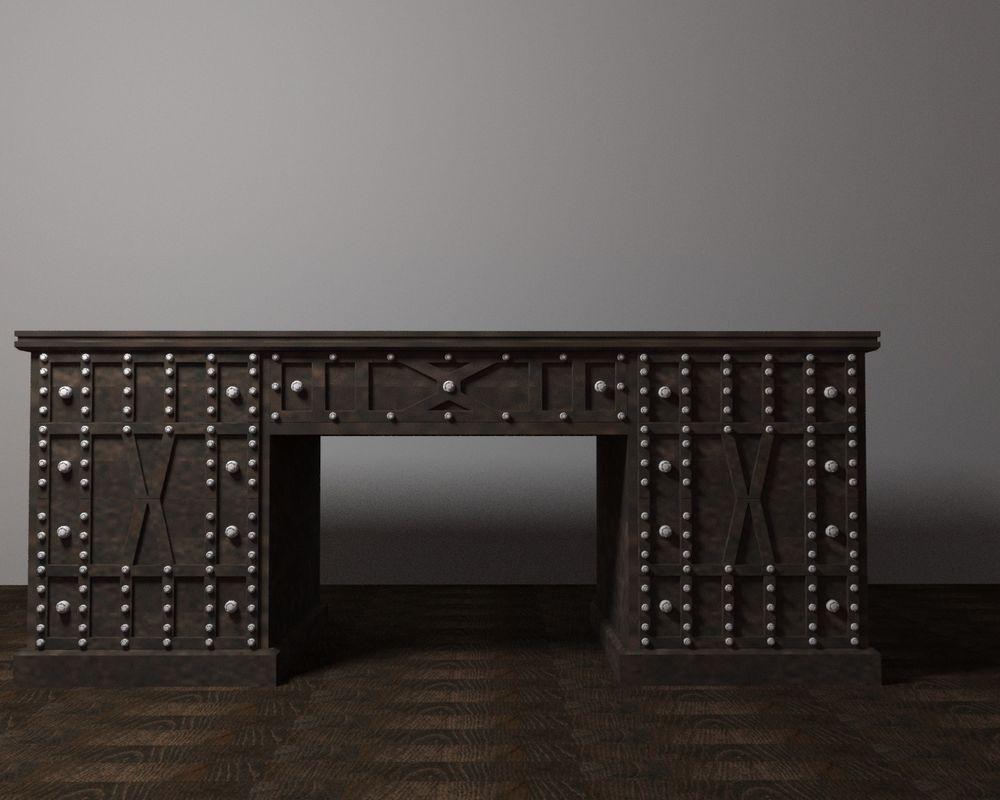 письменный стол, из массива, стол руководителя