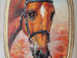 Пишем маслом этюд «Портрет рыжей лошади». Ярмарка Мастеров - ручная работа, handmade.