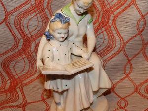 Антикварная фарфоровая статуэтка. Первая буква. Полонное. Ярмарка Мастеров - ручная работа, handmade.