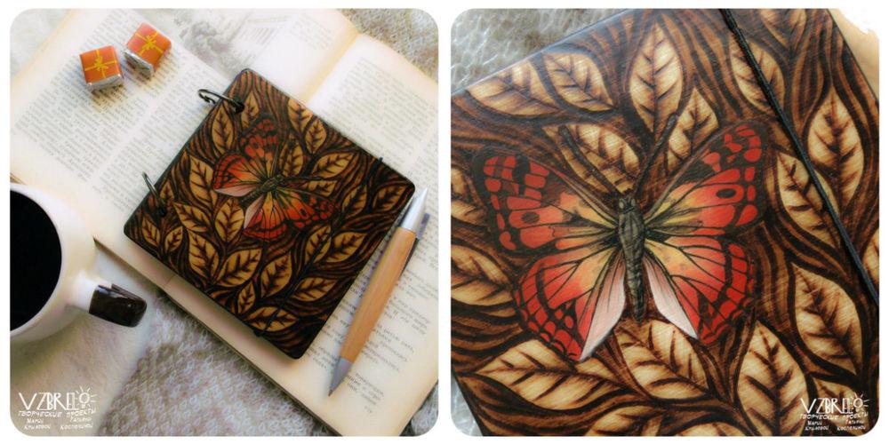 деревянный блокнот, роспись по дереву, подарки, в наличии