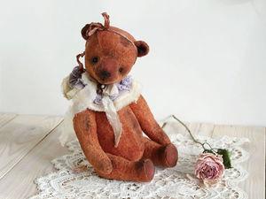 Шьем воротничок в винтажном стиле для мишки тедди. Ярмарка Мастеров - ручная работа, handmade.