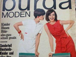 Burda moden 7/1966 Бурда Моден. Ярмарка Мастеров - ручная работа, handmade.
