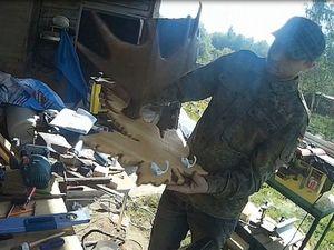 Изготавливаем вешалку с рогом оленя: видео мастер-класс. Ярмарка Мастеров - ручная работа, handmade.