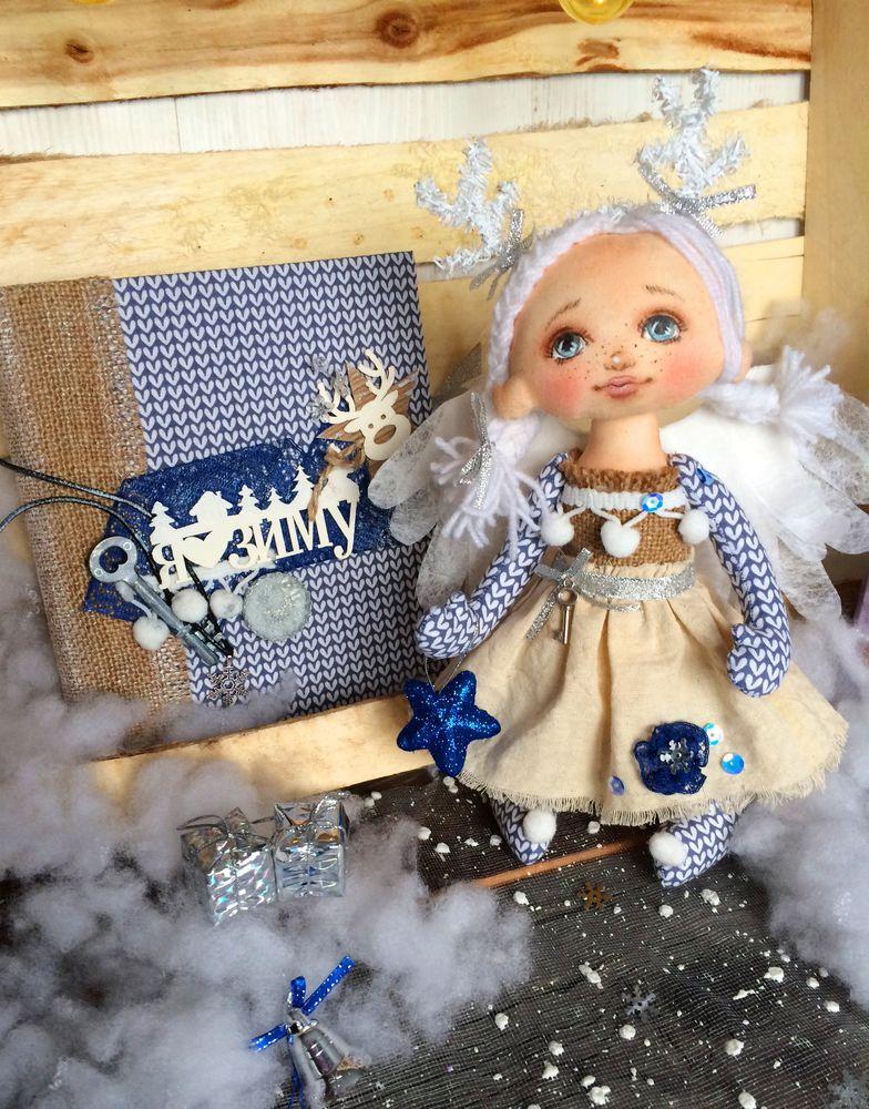 авторская ручная работа, кукла новогодняя, кукла ангел