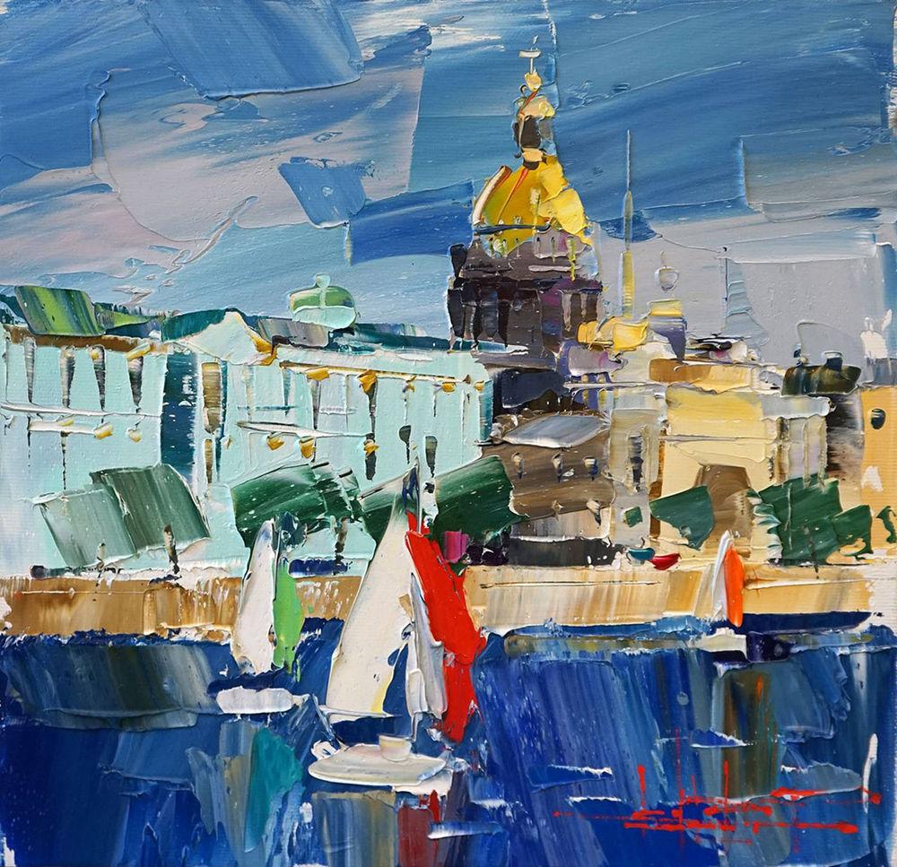 Konstantin Sukhopluev: Artist Painting Rain, фото № 27