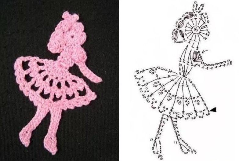Аппликации для девочки вязание 17