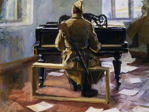 «Музы не молчали». Подборка картин о музыке на войне. Ярмарка Мастеров - ручная работа, handmade.
