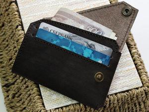 Изготавливаем маленький кошелек из натуральной кожи. Ярмарка Мастеров - ручная работа, handmade.