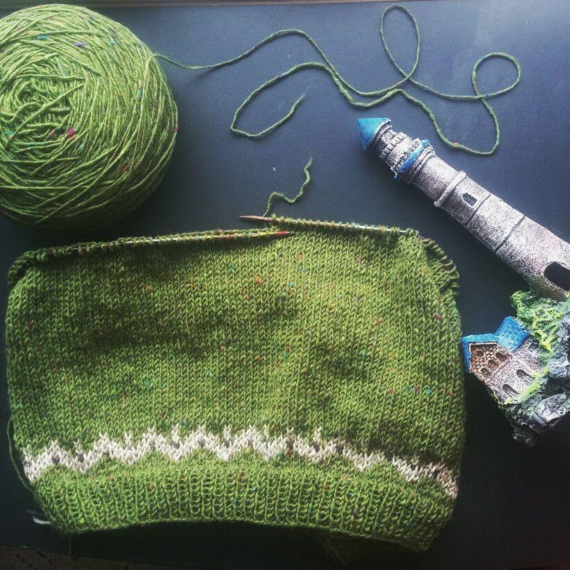 свитер спицами, индивидуальный заказ