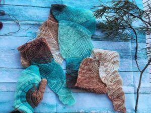 Вяжем красивый шарф: видеоурок. Ярмарка Мастеров - ручная работа, handmade.