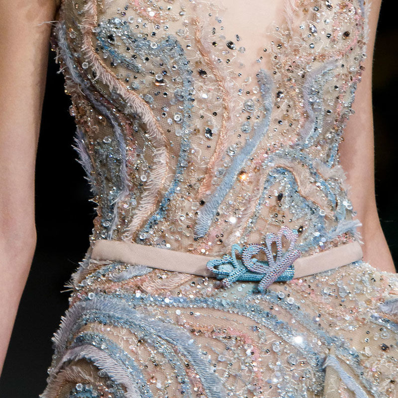 Воздушная нежность и грация в платье ливанского дизайнера Ziad Nakad