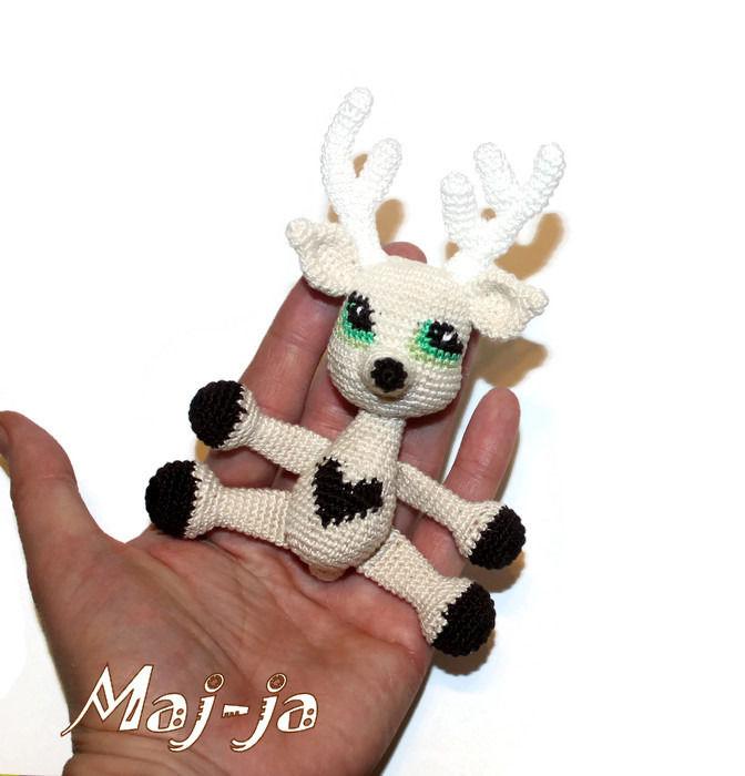 олень, олененок, сердце, сердечко, вязаное сердце, игрушка с любовью, красивая игрушка, игрушка подарок, 14 февраля, день влюбленных, с любовью, с сердцем, кукла вязаная, амигуруми