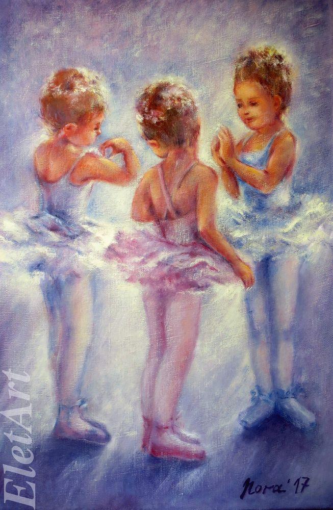 балет, танец, балерина, розовый, голубой, картина маслом, картина в подарок, картина на заказ, оригинальный подарок, нежная картина, картины и панно, подарок девушке, подарок девочке, подарок женщине