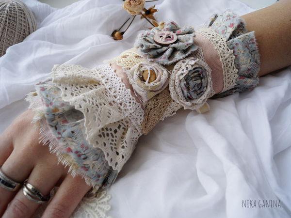 Текстильные украшения в стиле бохо. Брошь и кафф-браслет. | Ярмарка Мастеров - ручная работа, handmade