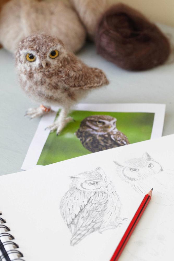 Вот-вот взлетят: реалистичные вязаные птицы Jose Heroys, фото № 4