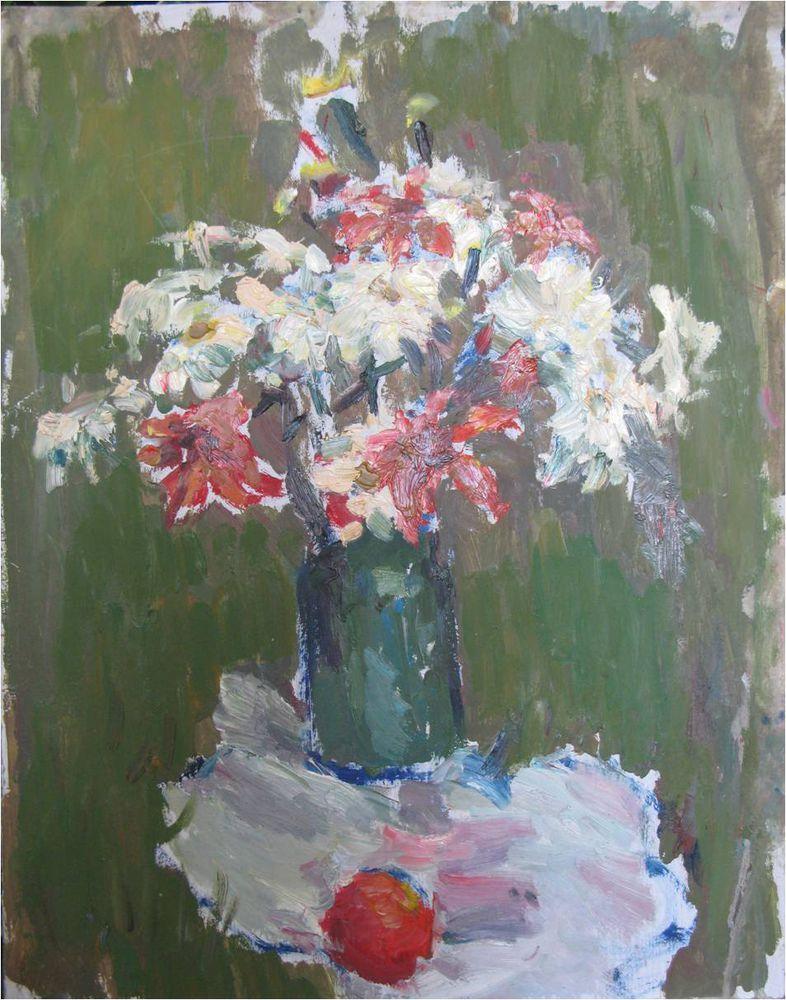 картина маслом, живопись, алексей шведов, цветы