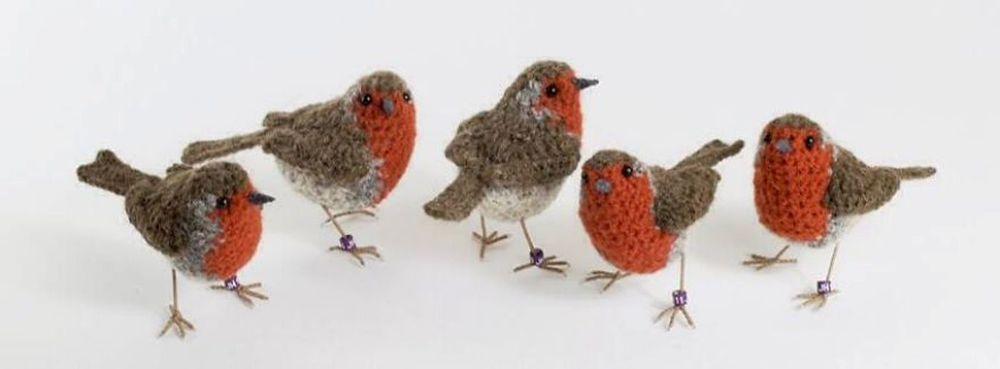 Вот-вот взлетят: реалистичные вязаные птицы Jose Heroys, фото № 22