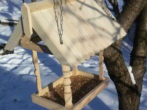 Делаем деревянную кормушку для птиц своими руками. Ярмарка Мастеров - ручная работа, handmade.