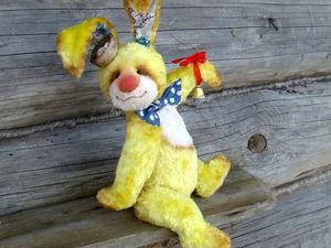 Пасхальный Кролик, имя Лимончик))   Ярмарка Мастеров - ручная работа, handmade