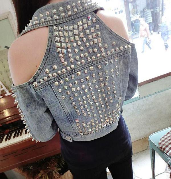 Многообразный декор джинсовых курток: 50 интересных вариантов, фото № 28