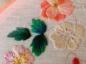 Процесс вышивки от Hanna по дизайну Elsa Williams «Bluebird Floral». Ярмарка Мастеров - ручная работа, handmade.