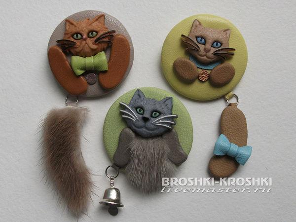 Делаем милые броши-значки с котиками | Ярмарка Мастеров - ручная работа, handmade