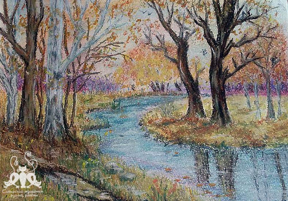 рисование, зимний пейзаж, хочу рисовать