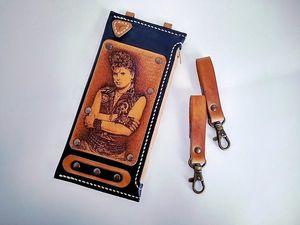 Кастомный кожаный чехол для телефона. Ярмарка Мастеров - ручная работа, handmade.