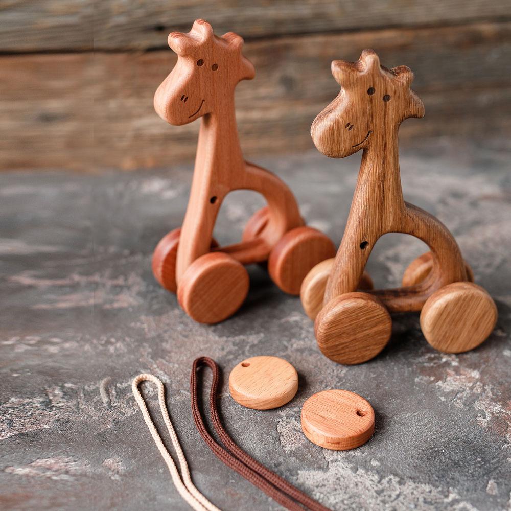 первая игрушка, игрушка на 1 годик, подарок мальчику, деревянные игрушки, игрушки из бука, буковые грызунки, детям, игрушка жираф, развивающие игрушки