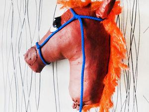 Мастерим лошадок на палочке. Ярмарка Мастеров - ручная работа, handmade.