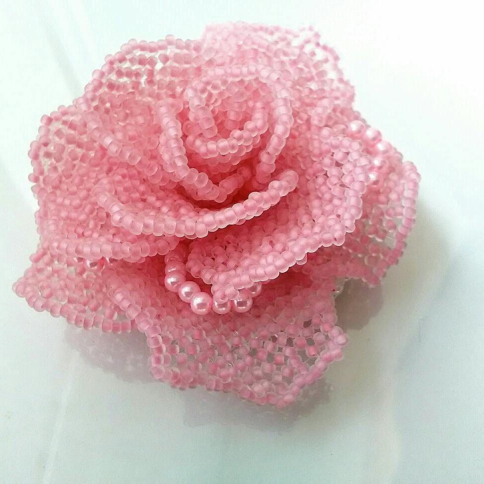новинка, матовая роза, брошь-цветок, подарок любимой