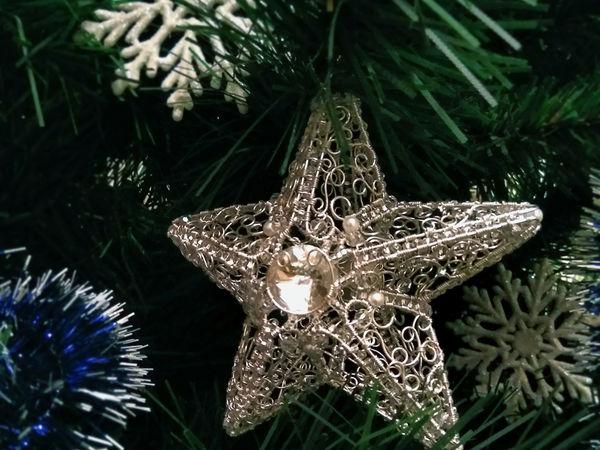 Крутим ажурную ледяную звездочку из проволоки | Ярмарка Мастеров - ручная работа, handmade