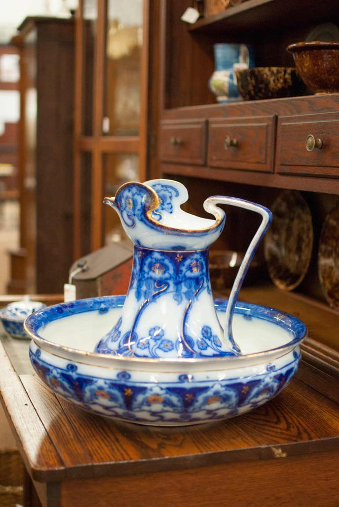 Flow blue — антикварная красота из Англии, фото № 18