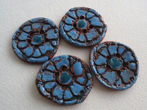 Керамические пуговицы с глазурью (репортаж мк) | Ярмарка Мастеров - ручная работа, handmade