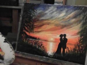 Видео мастер-класс: рисуем картину Любовь в контражуре. Ярмарка Мастеров - ручная работа, handmade.