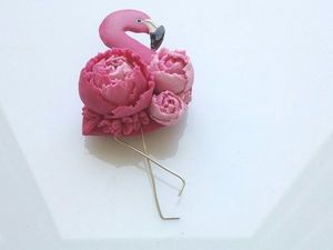 Розыгрыш Фламинго (брошь). Ярмарка Мастеров - ручная работа, handmade.