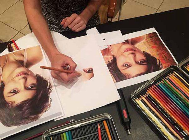 учусь рисовать, мастер-класс по рисованию, картина в подарок, мастер-класс карандаши, нарисовать портрет, портрет по фото