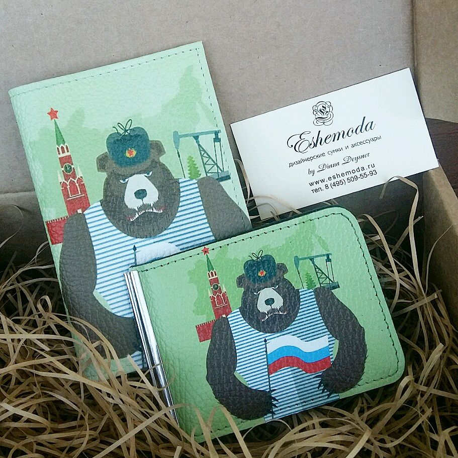 подарок коллеге, обложка на паспорт