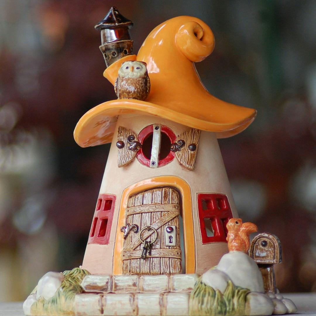 Домики для фей: волшебные керамические подсвечники Antje Rosemann, фото № 27