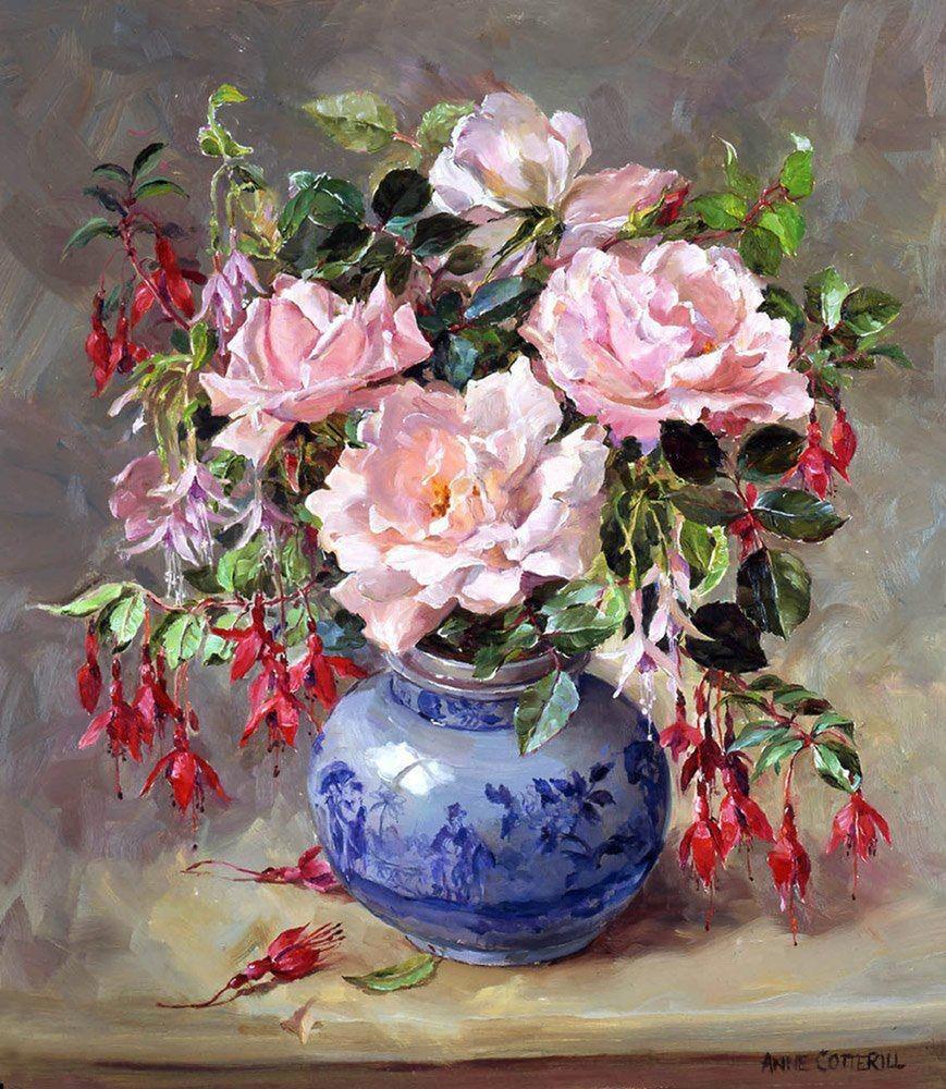 Рисуем розы в китайской вазе, фото № 1