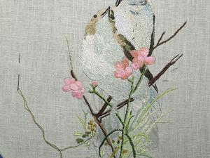 Вышивка птицы ч.1. Ярмарка Мастеров - ручная работа, handmade.
