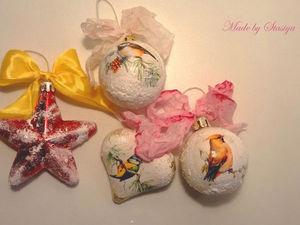 Мастер-класс по созданию новогоднего украшения на ёлку. Ярмарка Мастеров - ручная работа, handmade.